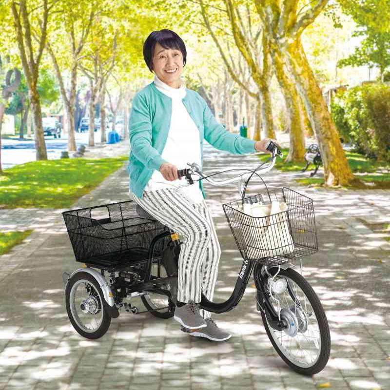 需要が高まる電動アシスト三輪自転車