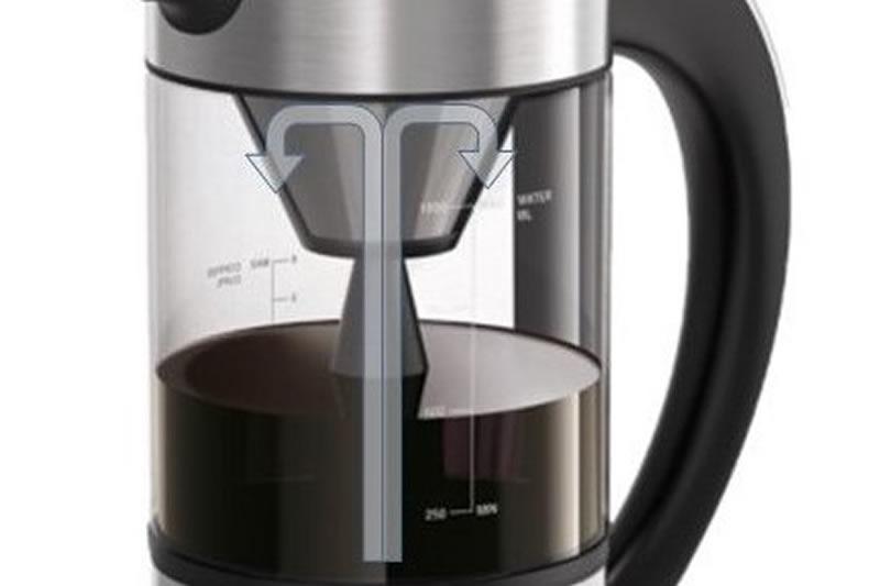 湯を下から上へと循環させながらコーヒーを抽出する「スピンシステム」を採用