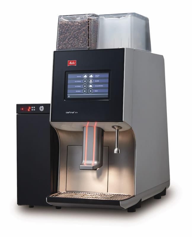 全自動コーヒーマシン「XT4 Touch」(ミルククーラー「MC14」は別売)