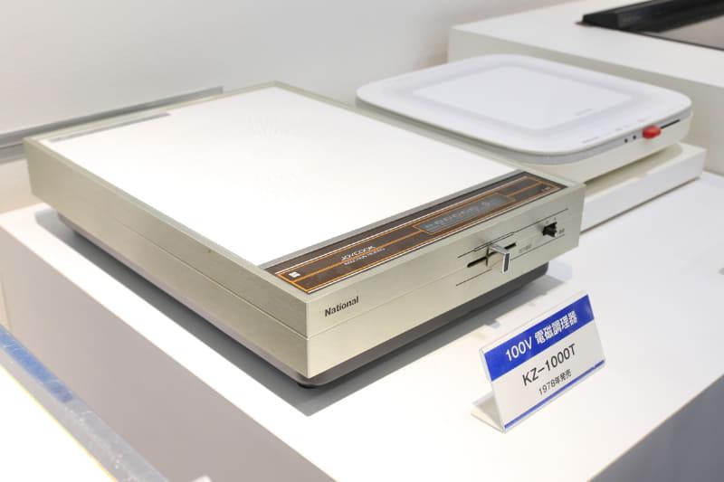1978年に発売された卓上IHクッキングヒーターは、4年でかなり小さくなった。ときはピンク・レディー一色で、テレビのステレオ放送が開始されたころ