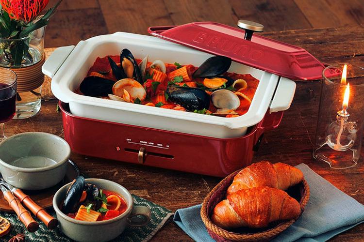 オプションのセラミックコート鍋で煮込み料理や鍋ができる