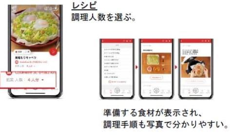 調理手順を写真で確認できるアプリが便利