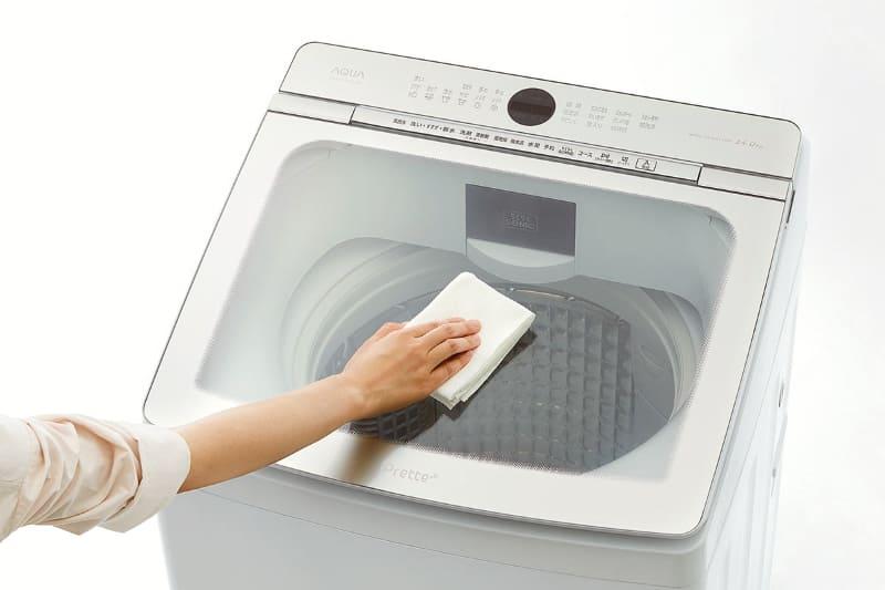 洗濯槽がよく見えるモデルが人気のAQUAの洗濯機。2020年秋から「Prette(プレッテ)」という新しいシリーズを展開し人気となっている