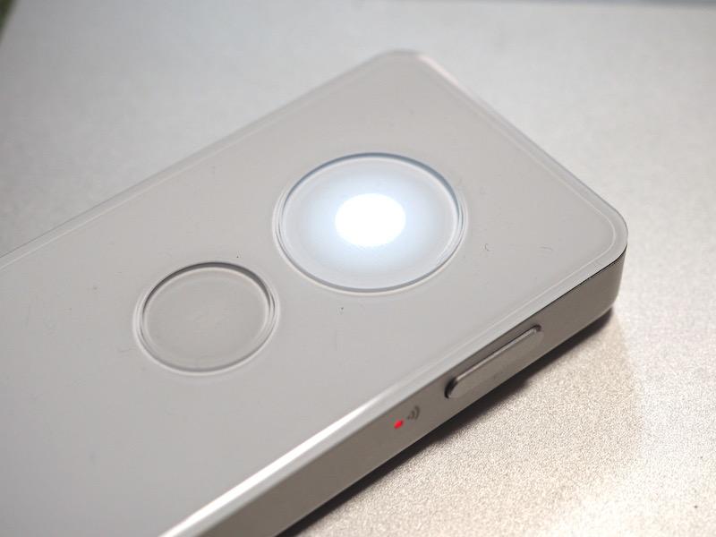 「録音」ボタンの中心部が「点灯」したら「録音中」