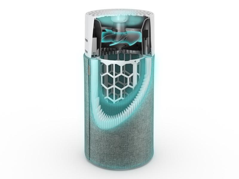 HEPASilentテクノロジーを搭載し、0.1µmまでの微粒子を99.97%除去