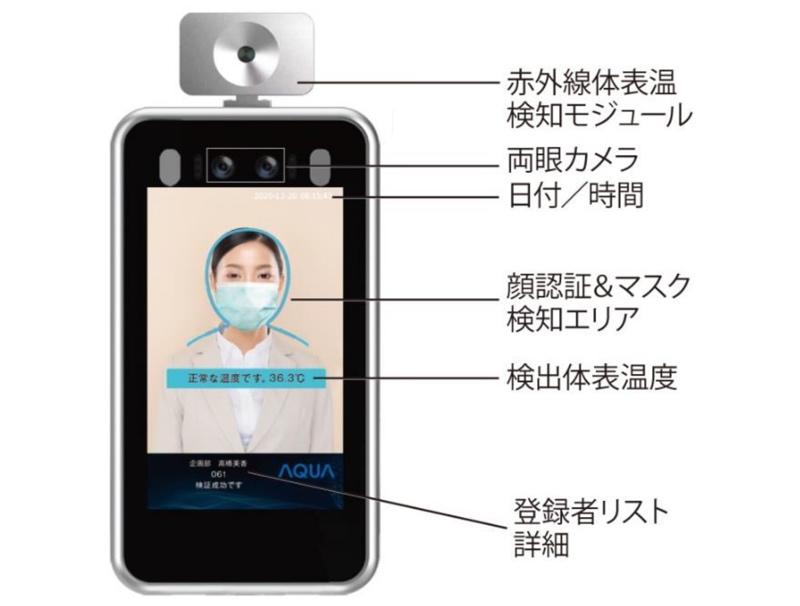 顔認証機能付きサーモセンサーシステム