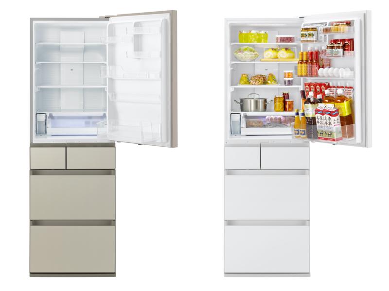 冷蔵室のほか新鮮凍結ルームやシャキシャキ野菜室などを備える