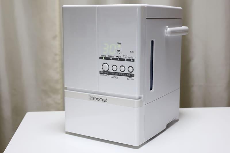三菱重工冷熱の「roomist SHE60TD」。スチームファン蒸発式加湿器で、ネット通販にて18,130円で購入しました
