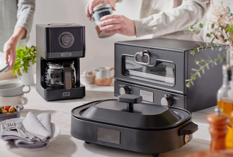 新色のリッチブラックは、Toffyのコーヒーメーカーなどでも展開している色