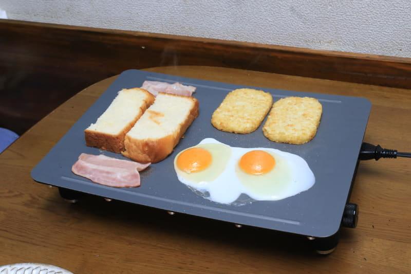朝食ならプレートが汚れることはほとんどない