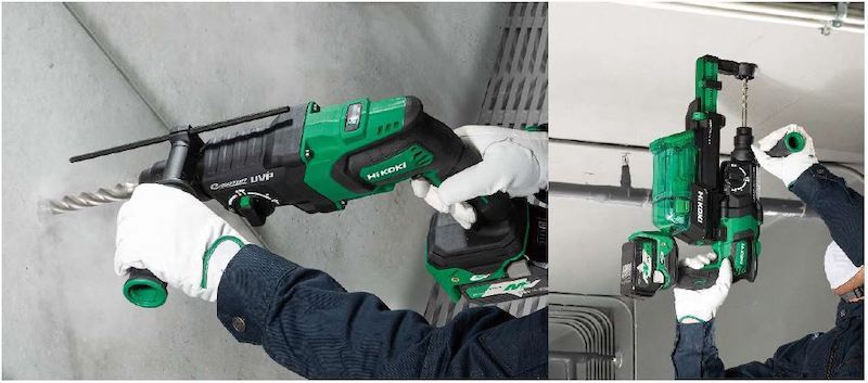 ロータリハンマドリルは、コンクリートや石材の穴あけに使用する電動工具