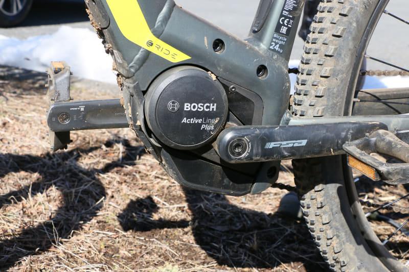 ドライブユニットはボッシュ製「Active Line Plus」を搭載。トルクの出方がスムーズで扱いやすく、音が静かなのがメリット