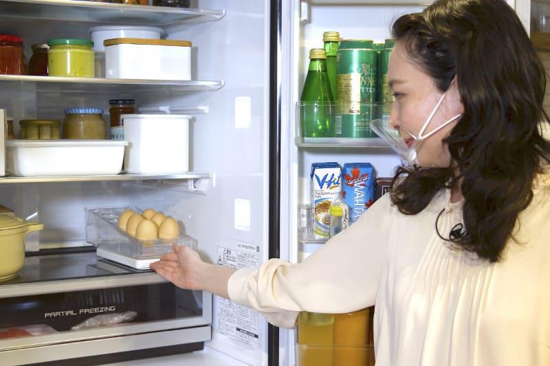 卵など常備したい食材の管理に便利だという