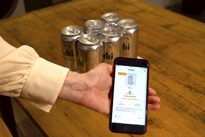 ビールなどは個数で管理