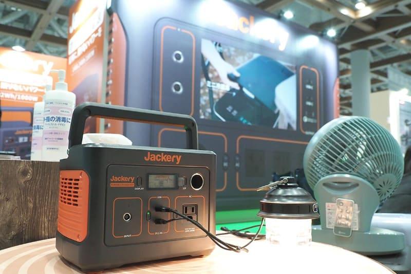 東京ビッグサイトで3月に開催された「二次電池展(バッテリージャパン)」のJackery Japanブース