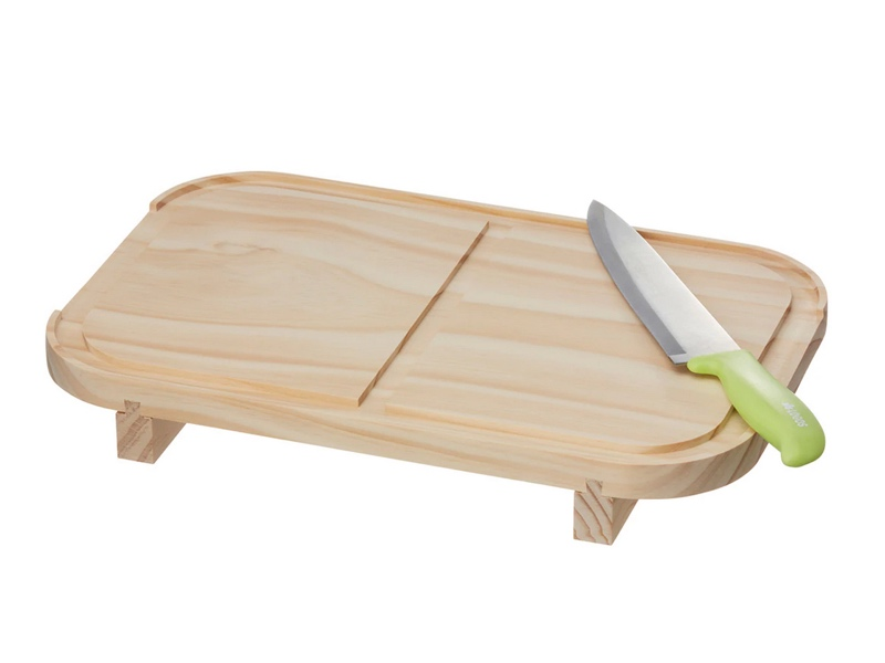 付属の木蓋はまな板としても使える