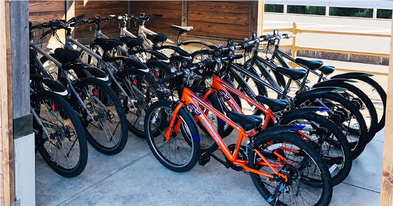 子ども用の自転車も用意されている