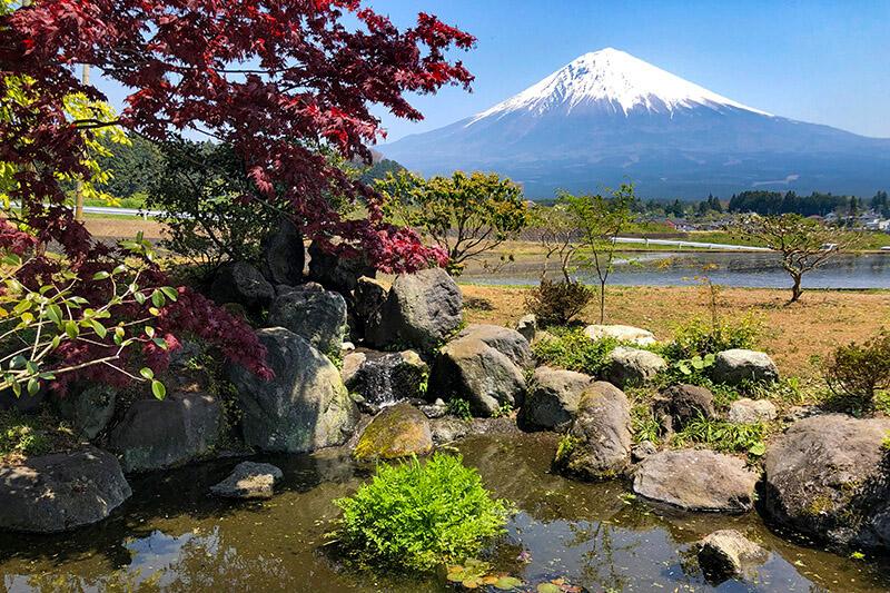 富士山麓の景色を満喫できる