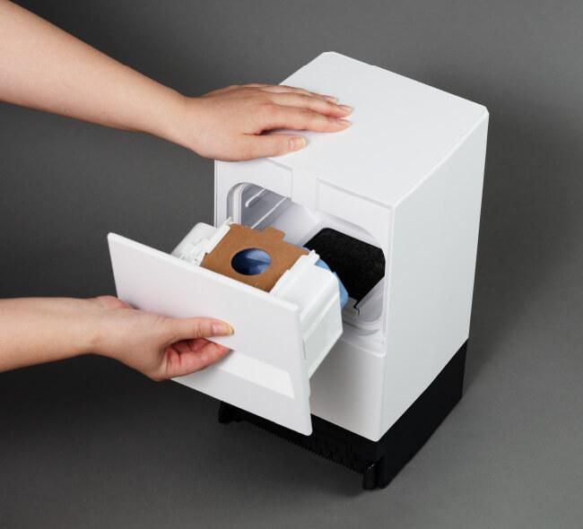 モップクリーナーは、紙パック方式