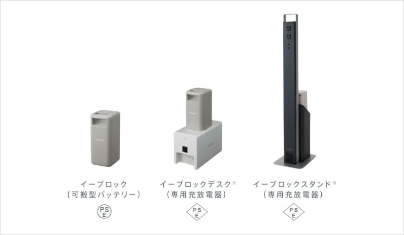 バッテリー/充放電器が分離型の蓄電池「e-block」