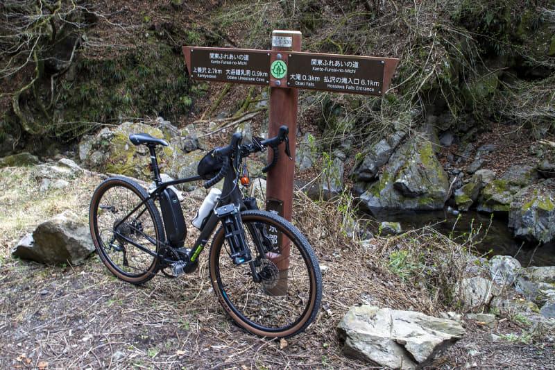 林道終点。距離は短いが林道を含む全線上り区間であるので、e-bike初心者にとってそれなりに走りごたえがある。満足できる内容だった