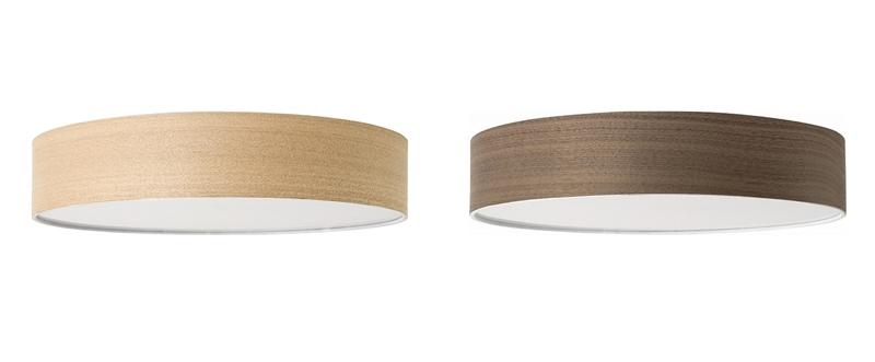 (左)タモ材、(右)ウォールナット材