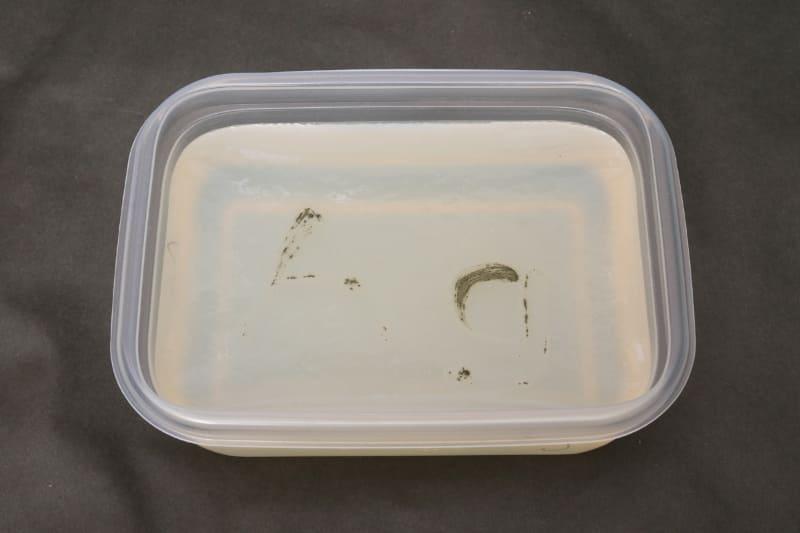 銀イオン水の培地にはほとんどカビ菌が繁殖していない