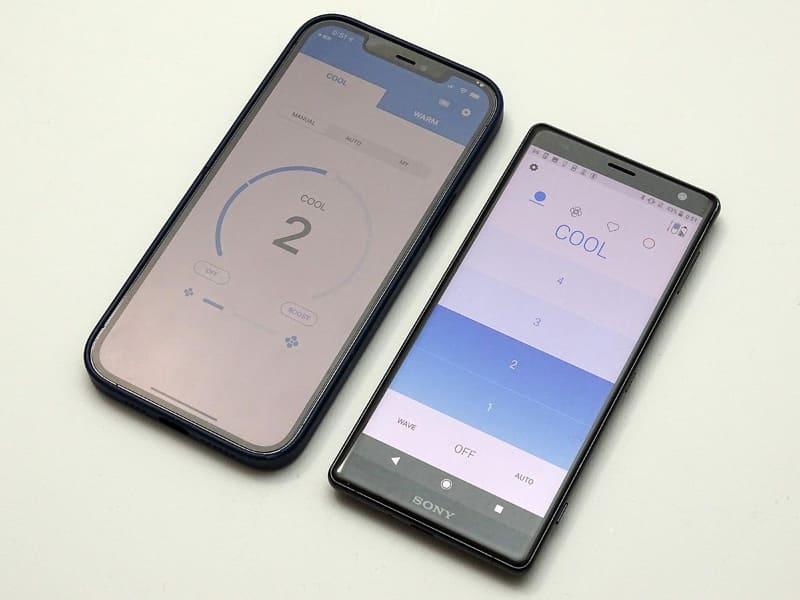 右側がアップデート後のREON POCKETアプリ。左側が以前のバージョン。ユーザーインターフェイスが大きく様変わりした