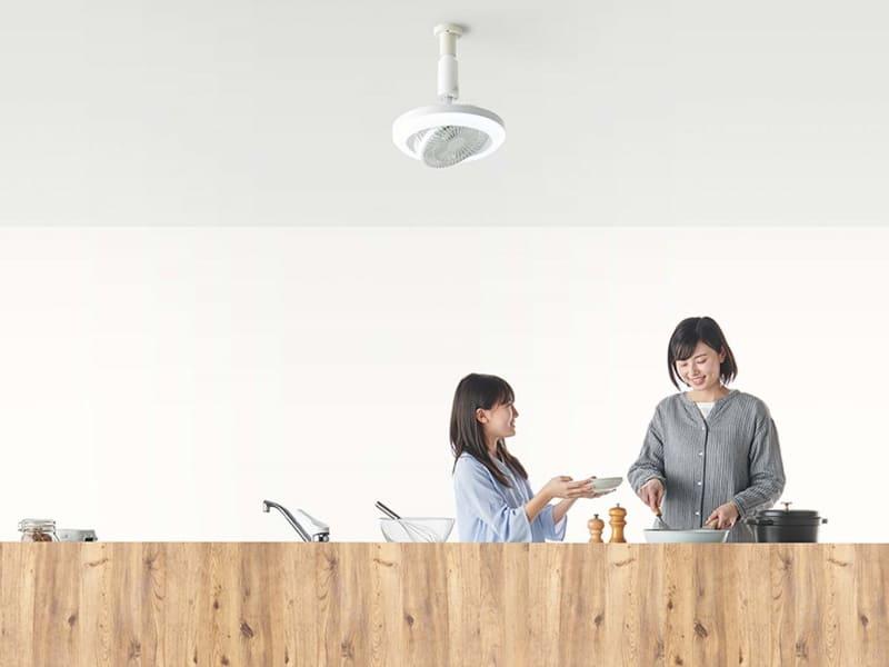 天井からリビングや寝室の空気循環を促す