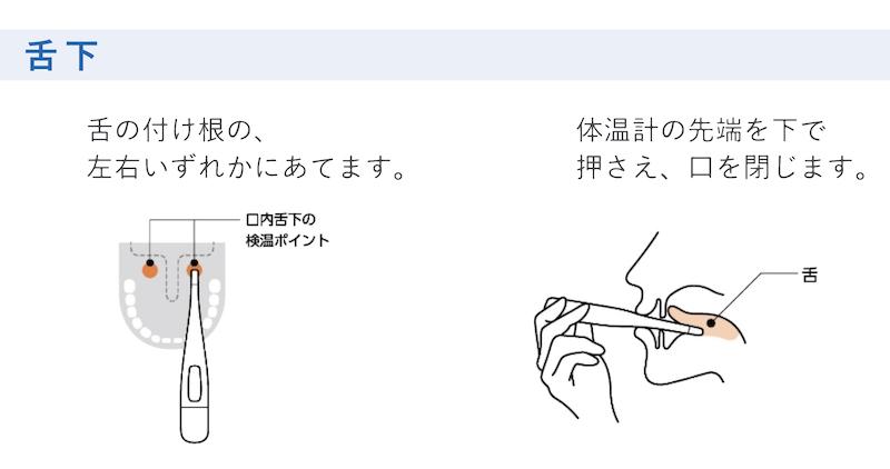 口中で測る際の注意点