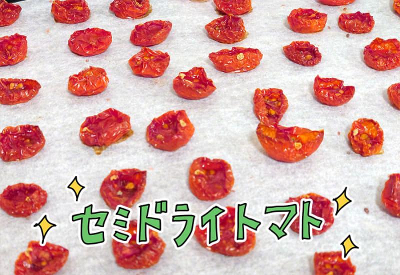 手作りセミドライトマト。乾燥具合はお好みで調整できる