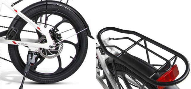 衝撃吸収性と安定性に優れたタイヤを採用