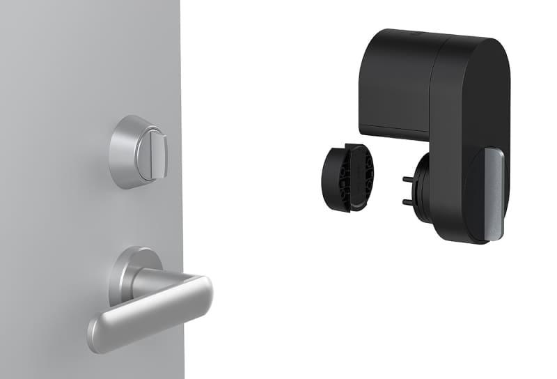 Qrio Lockの取り付けイメージ