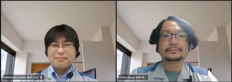 製品開発に関わった空調生産本部 住宅用空気商品グループの梅村太志氏(写真左)と清野竜二氏(写真右)