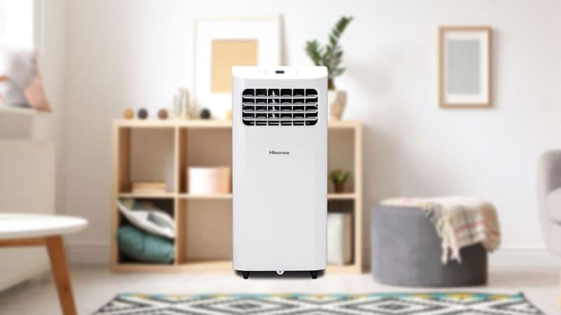 必要に応じて設置場所を容易に変えられるポータブルなスポットエアコンです。電源はAC100V(コンセント)。必要に応じて付属の排気ダクトパイプを接続し、熱気を帯びた排気を室外に排出して使います