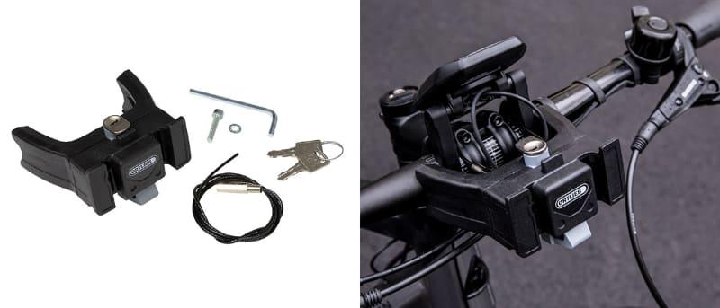ORTLIEBの自転車用マウントシステムの一例。ORTLIEB製バッグ向けとして発売されていますが、公式にKLICKfix互換となっています