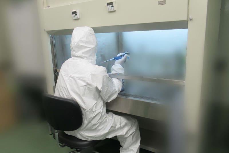 変異株を含む新型コロナウイルスに、プラズマクラスターイオンを照射して効果を検証