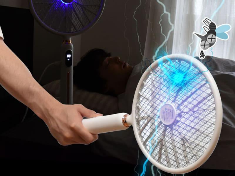 高圧電流で蚊を退治
