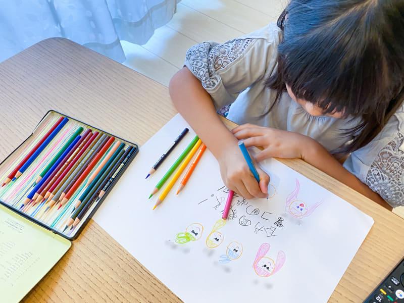 スプラトゥーンを題材に絵を描くのにハマっている娘