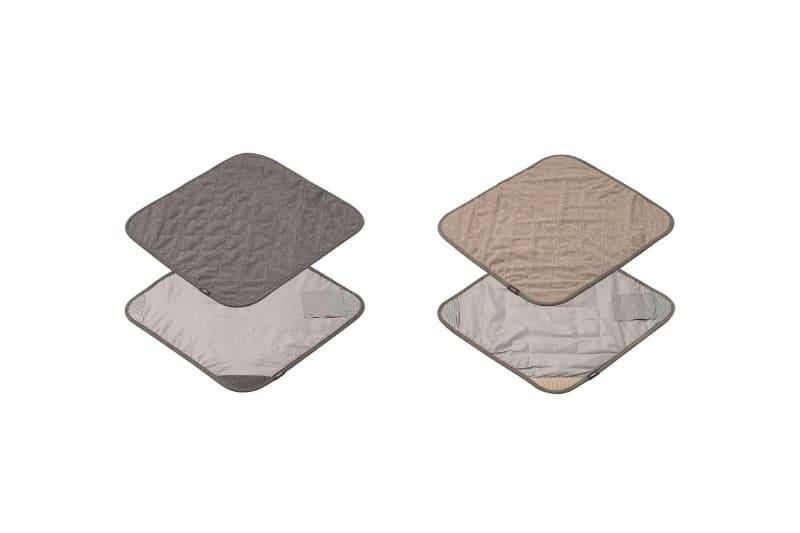 写真左からグレー、ベージュの2色展開