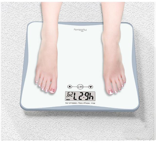 体重測定するとアラームが止まる