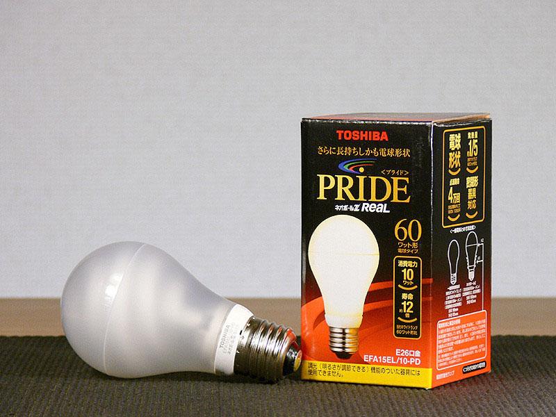 白熱電球よりも消費電力が少ない電球形蛍光灯。購入時に、通常よりポイントを加算する量販店もある