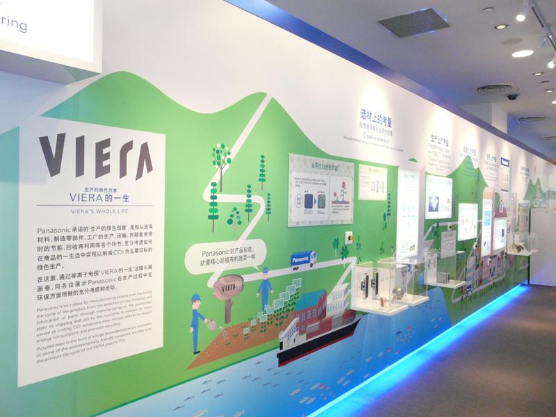 こちらではVIERAをテーマにした環境への取り組みをパネルで紹介
