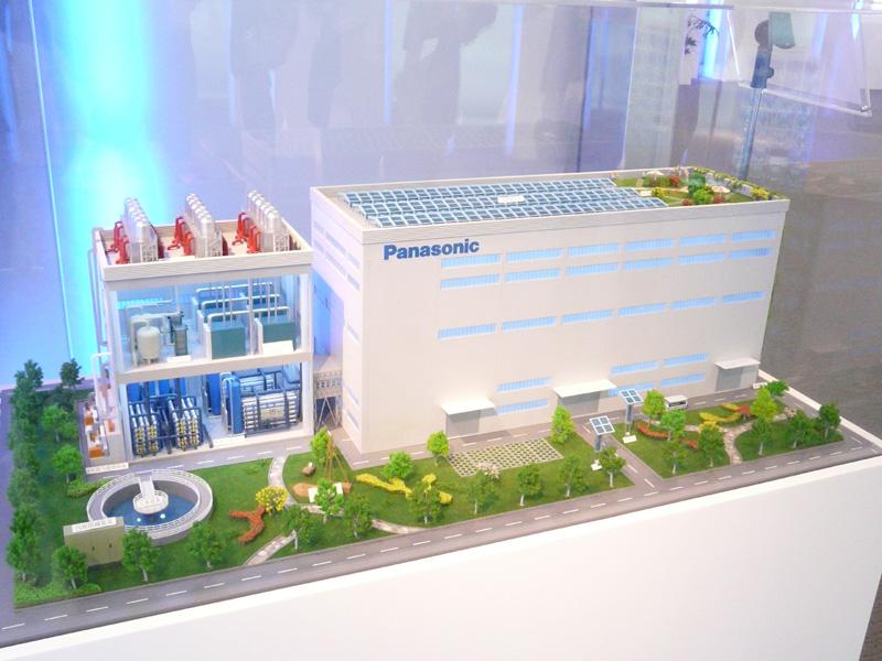 パナソニックの生産現場における環境への数々の取り組みを模型で紹介