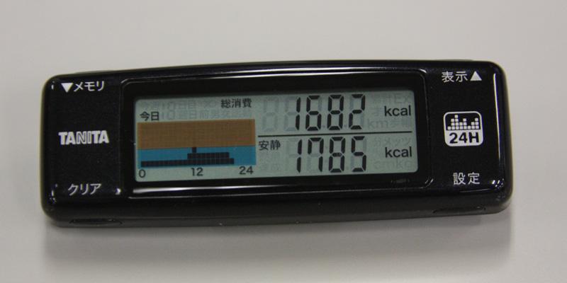 カロリズムで計測・表示できるデータ一覧。まずは、上でも紹介した「総消費エネルギー量(上)」と「安静時代謝量(下)」