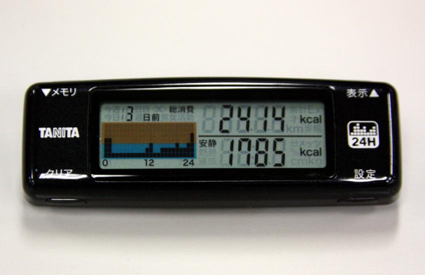 「24時間カロリズムグラフ」のグラフが高ければ高いほど、運動したことになる