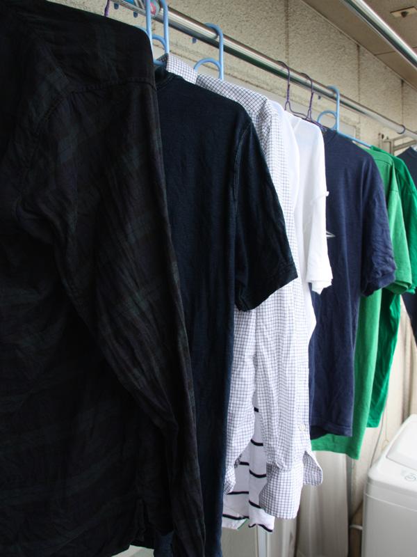 意外と消費エネルギーが多かった洗濯物干し
