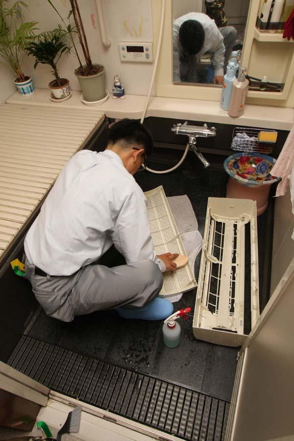 資器材の中にあったお風呂ブーツは、ここで使うのか!