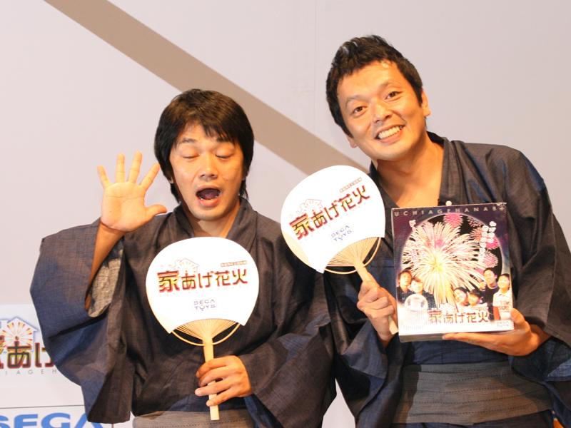 お笑い芸人の中川家のお二人。左から中川 剛さん、中川 礼二さん