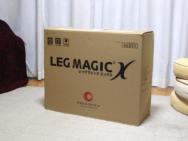 「LEG MAGIC X」のパッケージ。大きな箱で驚いた